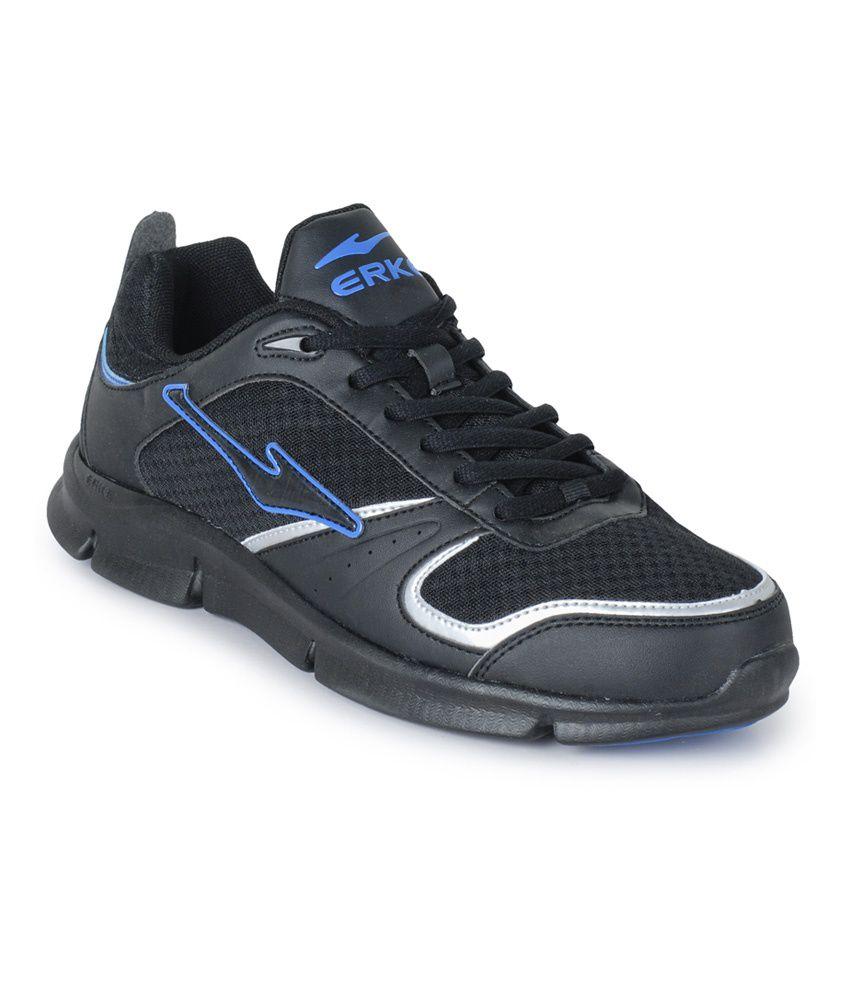 Erke Black Running Sport Shoes