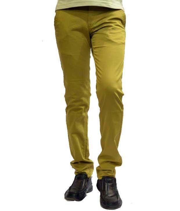 R & c cotton pant khaki Stretchable Jeans
