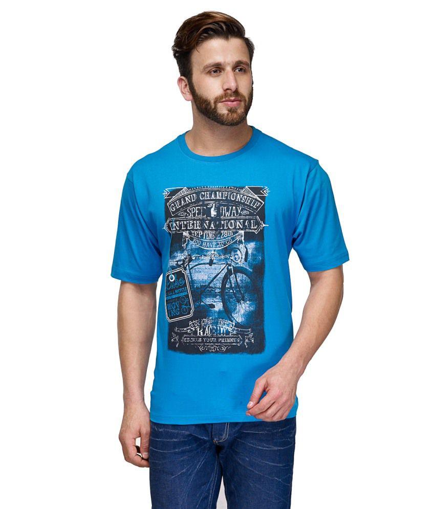 CnM Blue Cotton T Shirt