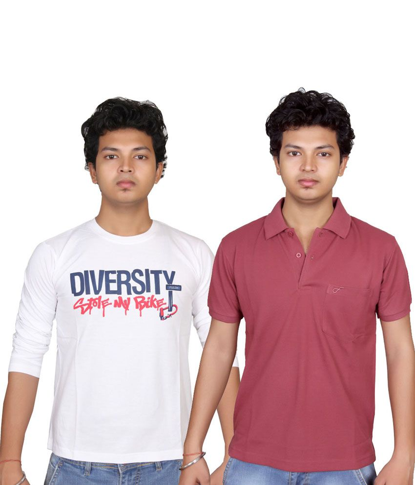 Fulon Multicolour Printed Cotton Blend Dashing T-Shirt - Pack of 2