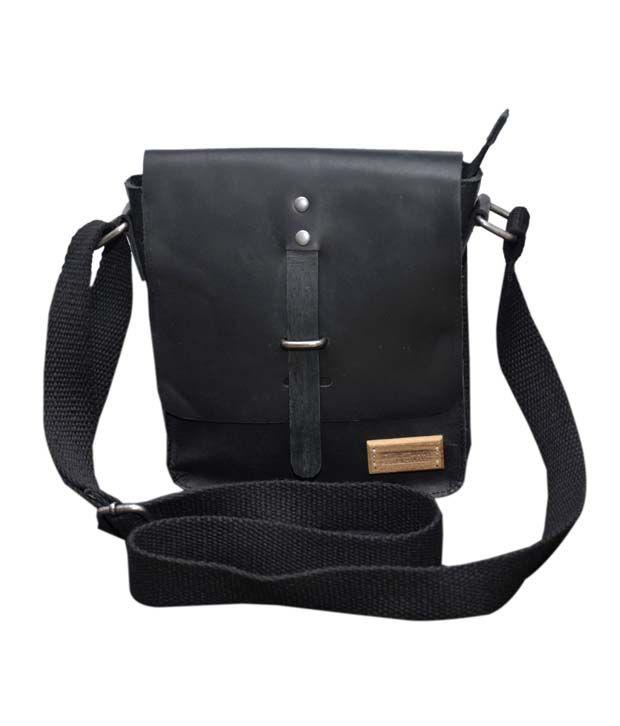 Le Craf Harper Black Stylish Messenger Bag
