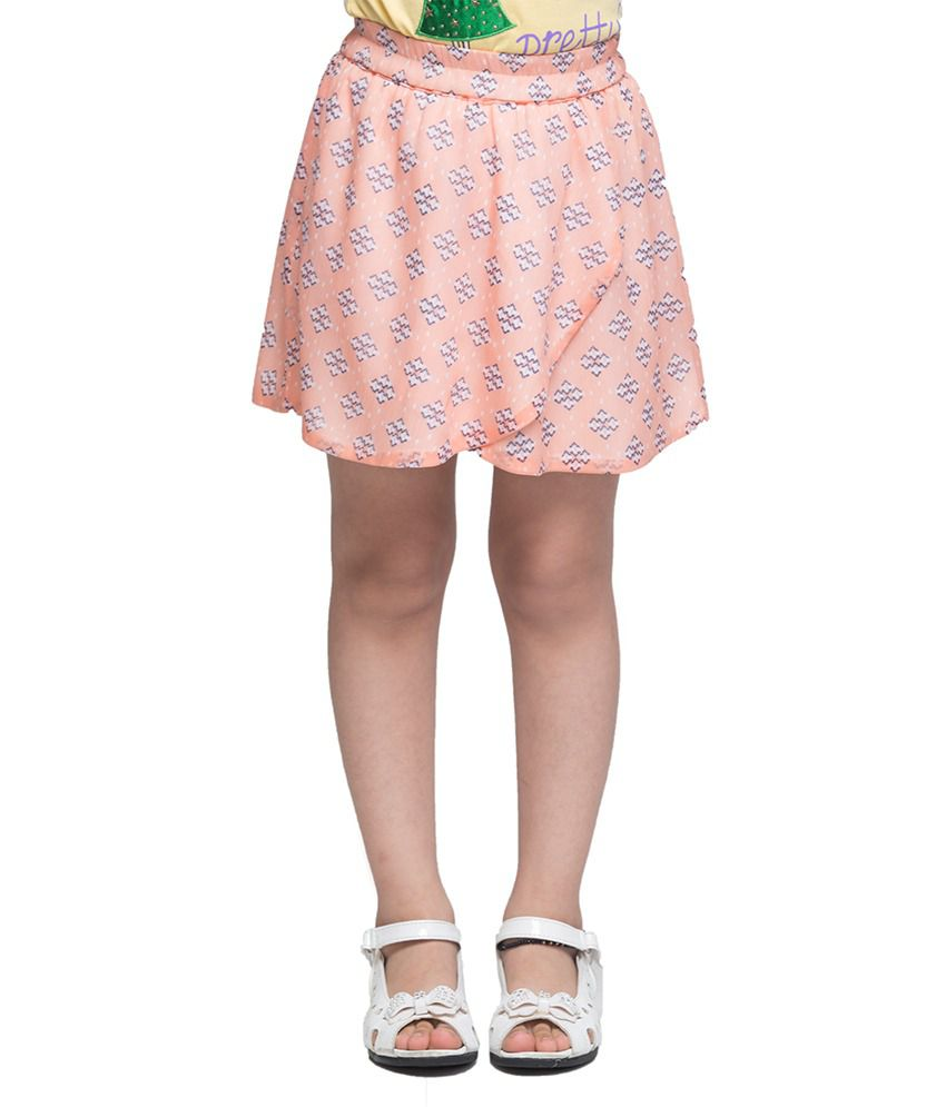Oxolloxo Girls printed skirt