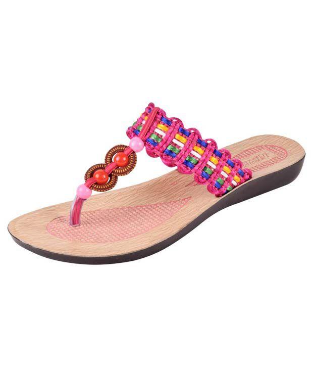 Fixer Pink Round Toe Flat Slip-On