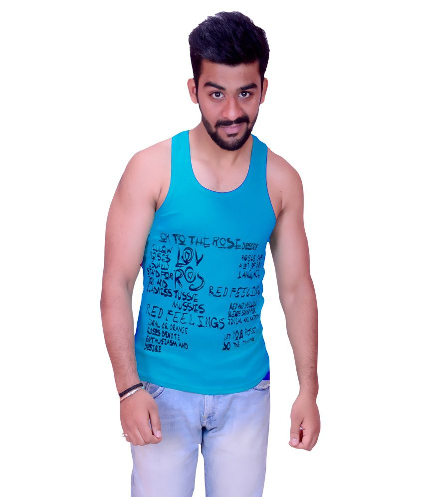 CASUAL SLIM FIT PRINTED SKY BLUE COLOR SANDOS