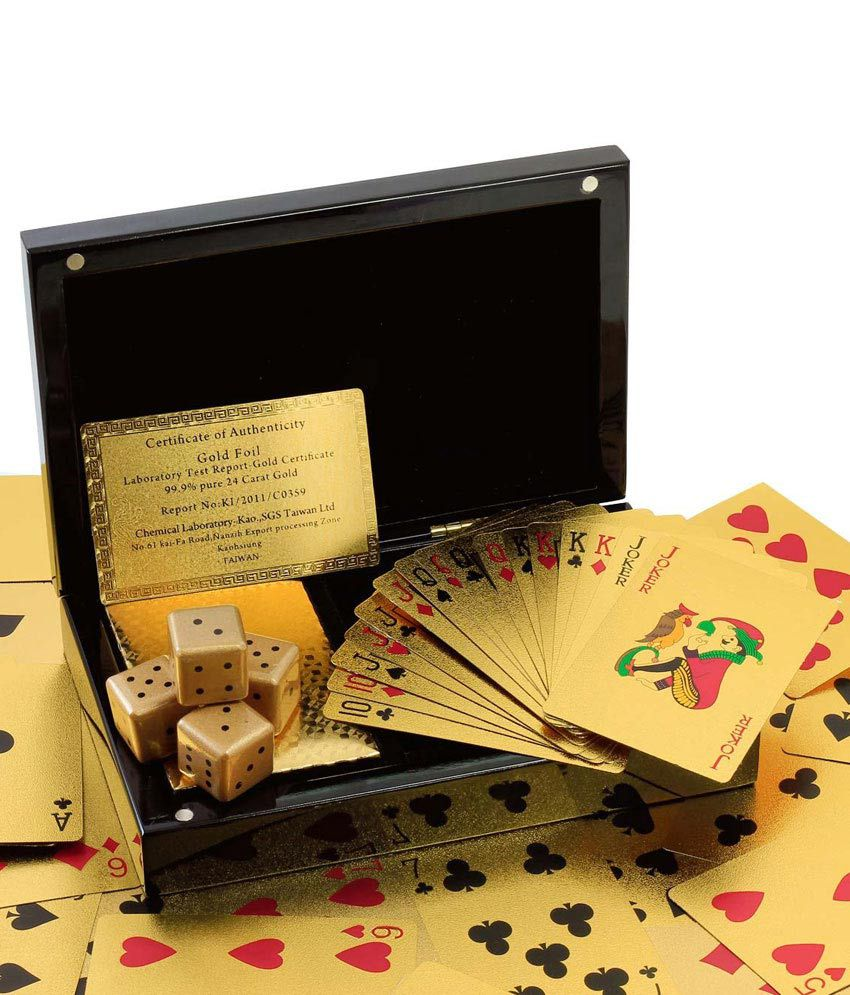 Justclik 24 Carat Gold Plated Playing Cards (Set of 2)