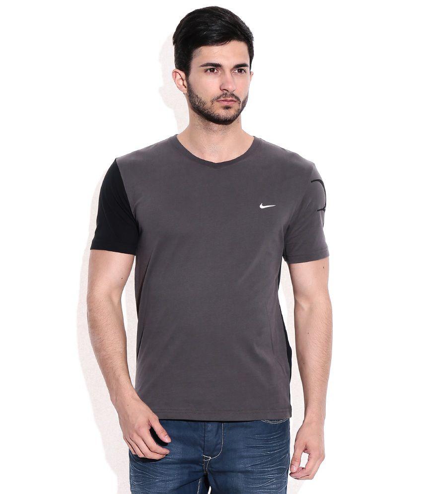 Nike Gray V neck t-shirt