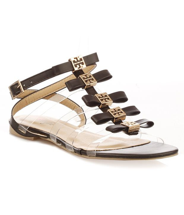 Vero Couture See Through Strap Sandals - Black