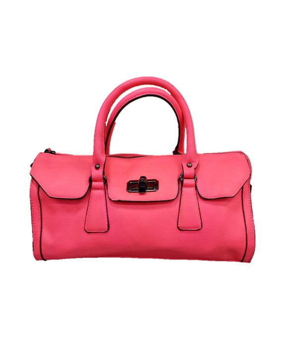 Barbie Pink Leather Hand Bag For Women