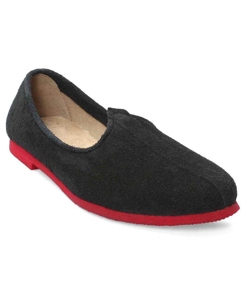 Bareskin Black Jalsa With Red Sole Shoes