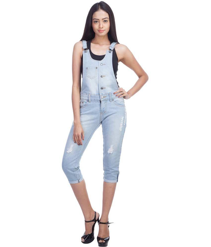 Trendbae Blue Denim Jumpsuits - Buy Trendbae Blue Denim Jumpsuits ...