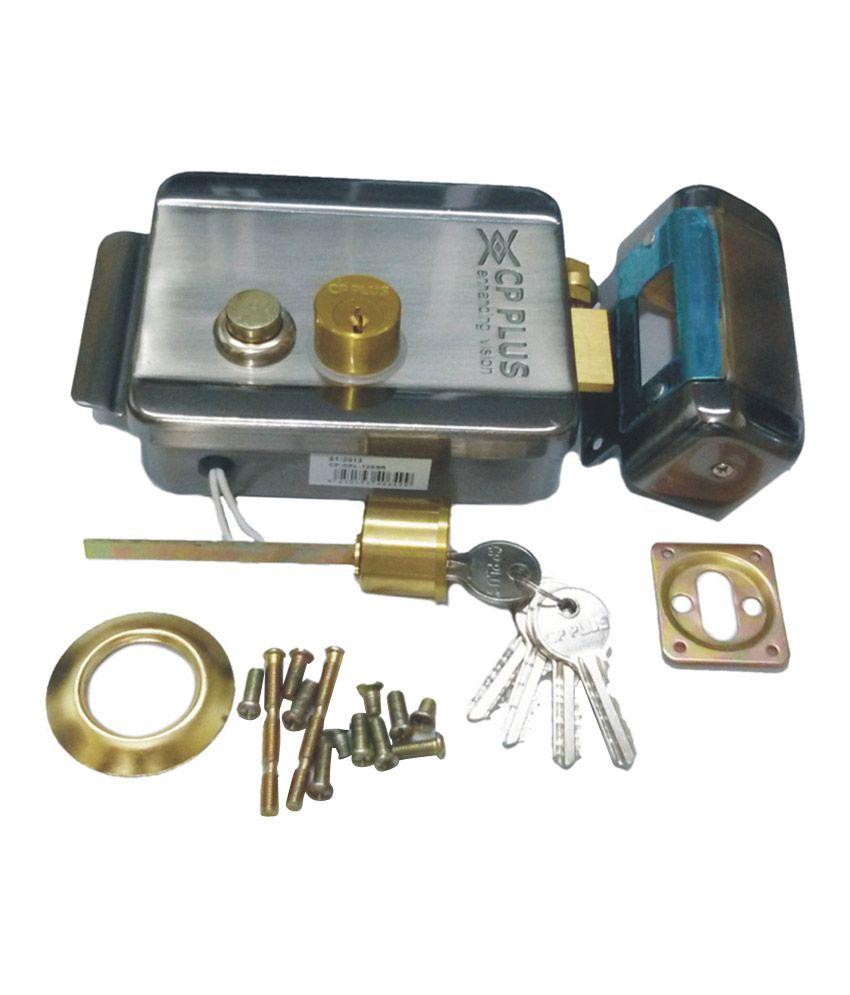 Buy Cp Plus Silver Steel Electrical Door Lock Online At