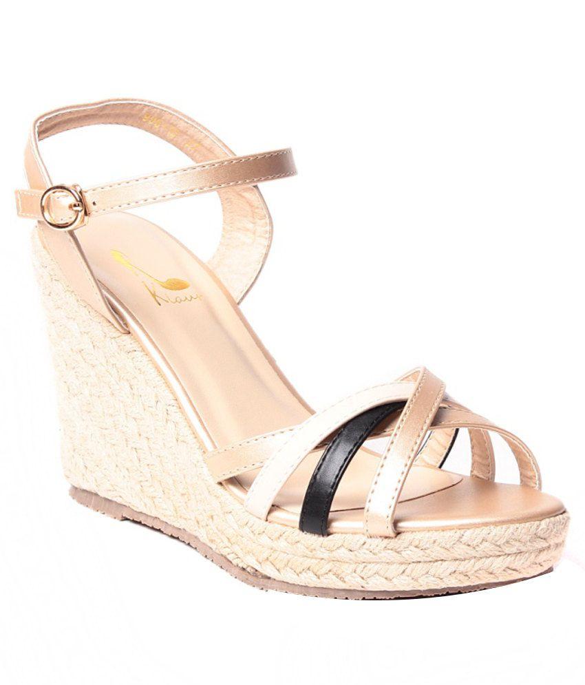 Klaur Glorious Beige Heeled Sandals