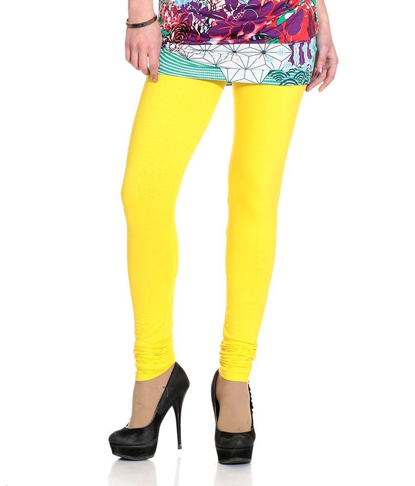 ahhaaaa smart yellow cotton leggings price in india buy. Black Bedroom Furniture Sets. Home Design Ideas