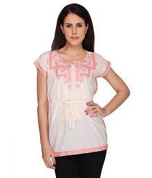 Bedazzle Round Neck Embroidered Kaftan
