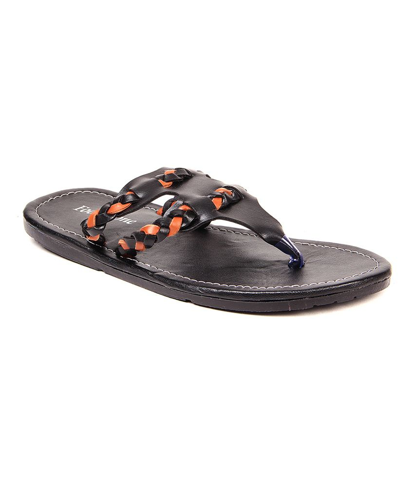 fb089e024c95 Foot Clone Black Thong Slippers For Men  039 s available at SnapDeal for Rs