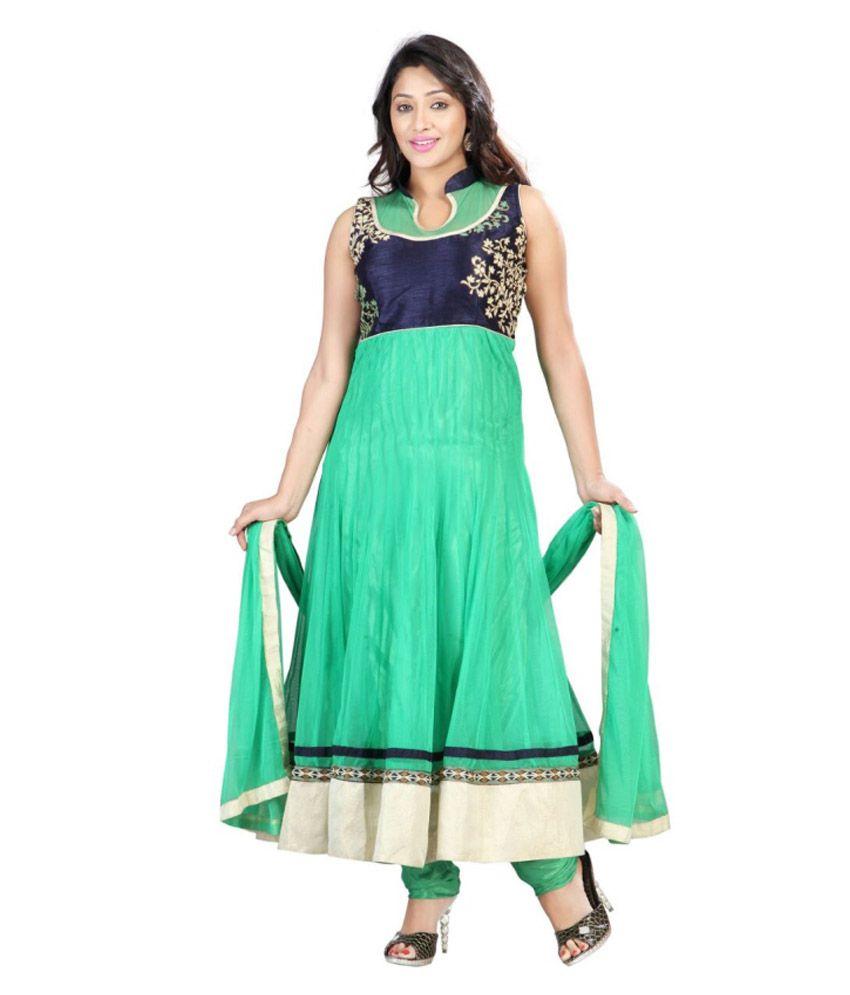 Mantra Green Stitched Salwar Suit