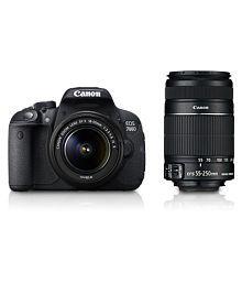 Canon 700D with EF-S 18mm-55mm IS II Lens + EF-S 55mm-250mm IS II Lens , Memory card and Bag