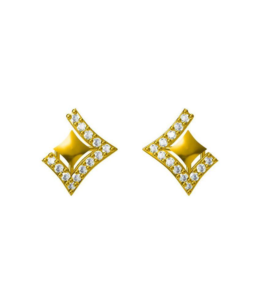 Phoenix Jewels 18kt Gold Round Diamond Studs