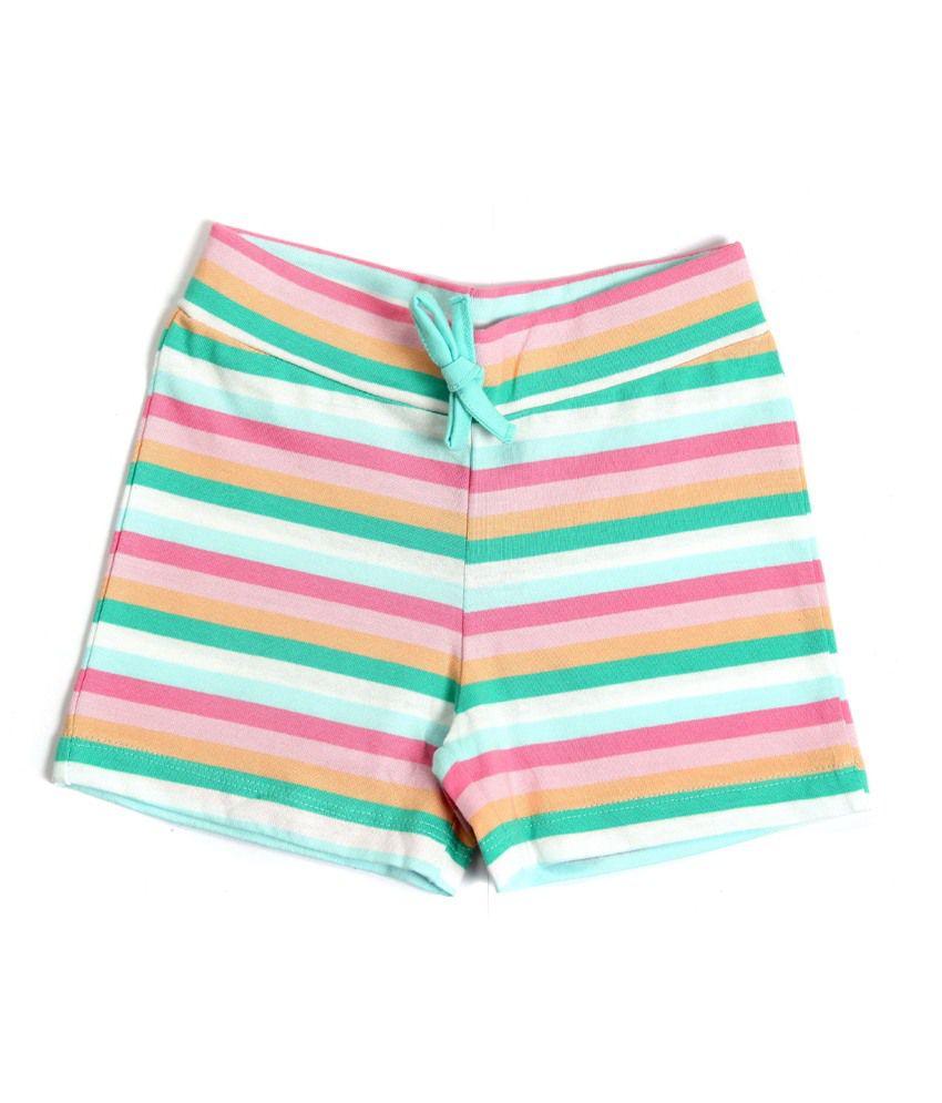 Bio Kid Multicolour Cotton Printed Shorts