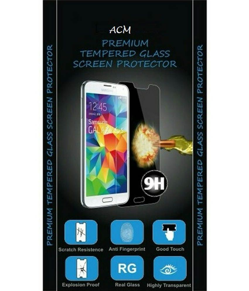 ACM Tempered Glass Premium Screenguard Screen Guard For Micromax A190 Canvas Hd+ Anti-Scratch Proof Protector