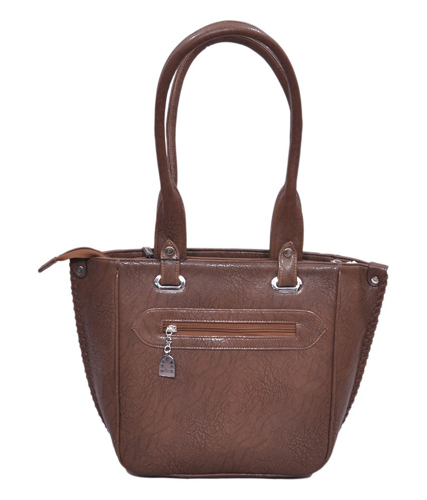 6e2b907fed Essence Brown Leather Satchel Bags - Buy Essence Brown Leather ...