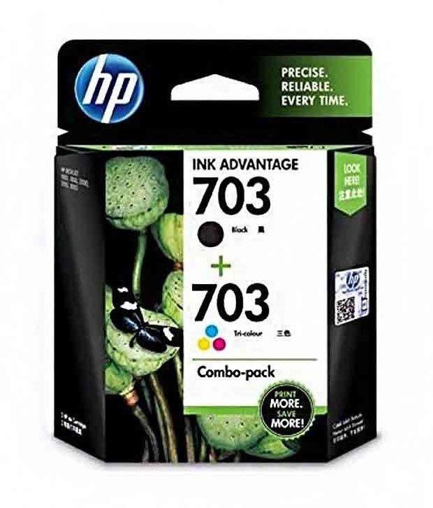 HP 703 2-pack Black Tri-color Original Ink Advantage Cartridges