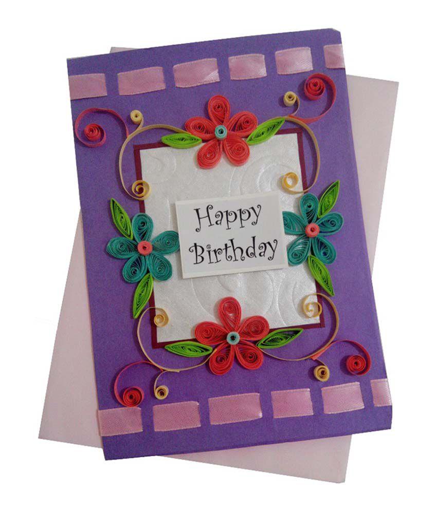 Mishti creations handmade happy birthday greeting card buy online mishti creations handmade happy birthday greeting card kristyandbryce Gallery