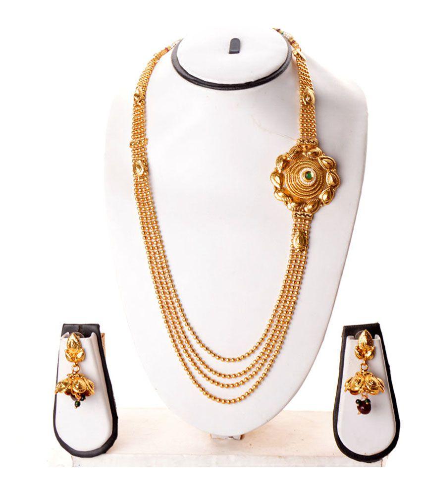 Zakasdeals Golden Bridal Elegant Long Rani Haar Set - Buy Zakasdeals ...