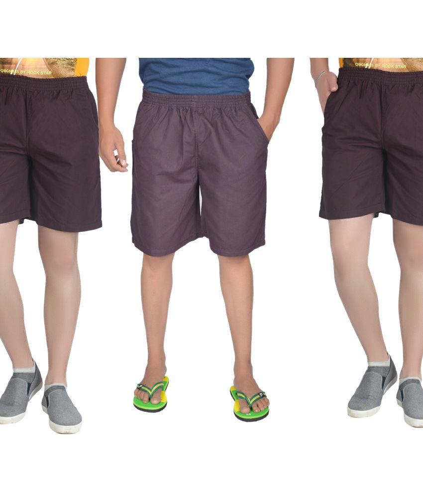 S.A True Fashion Men's Pipping Short - Set Of 3