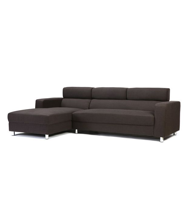 2 seater sofa with right chaise lounge in brown buy 2 for 2 5 seater sofa with chaise