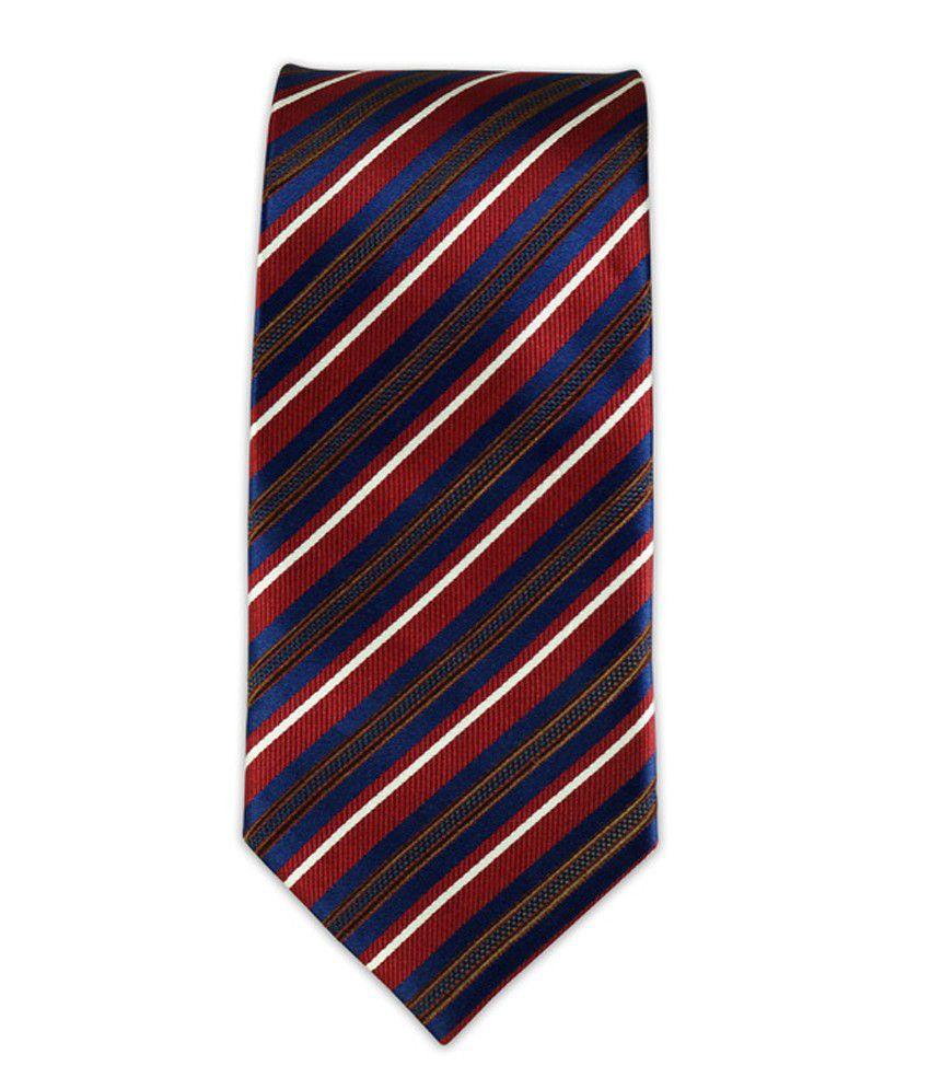 The Tie Hub Blue Micro Fiber Casual Narrow Tie