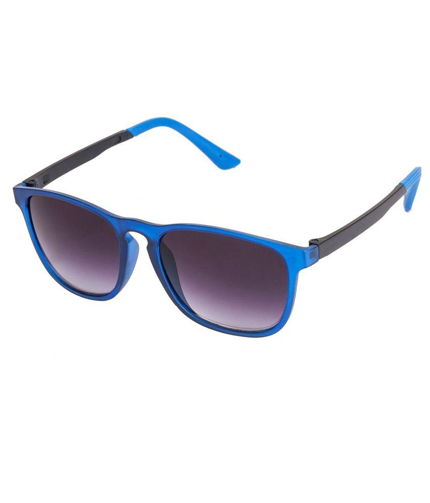 Vespl Attractive Black & Blue Wayfarer Sunglass