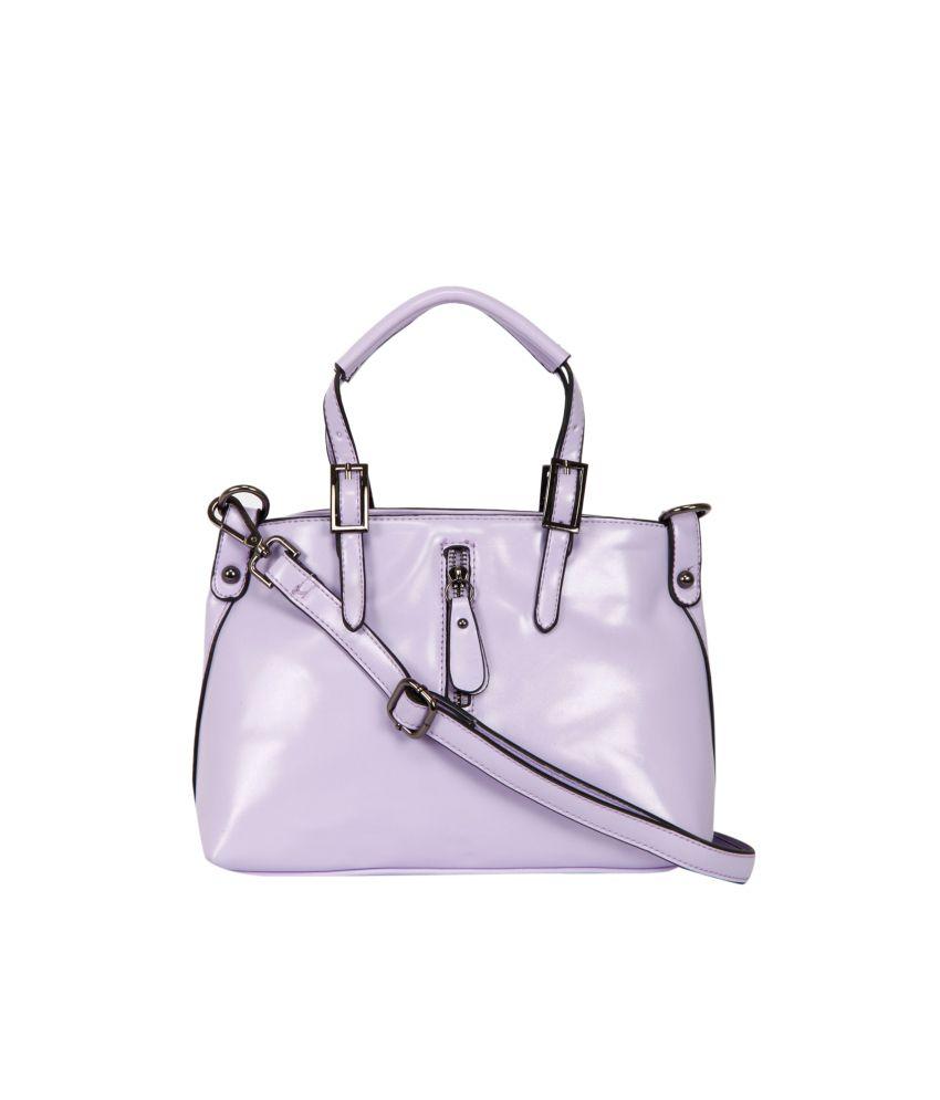 The Gud Look Purple P.u. Zip Hobo Bags