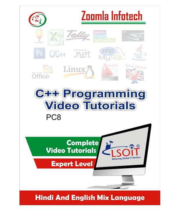 C++ Programming Language Video Tutorials for Self Learning by Zoomla  Infotech (Hindi-English Mix Language DVD)