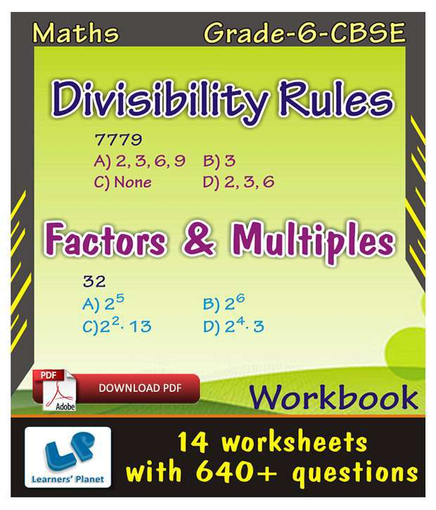 image relating to Divisibility Rules Printable titled Quality-6-CBSE-Maths-Divisibility Regulations,Things to consider-Multiples-WB
