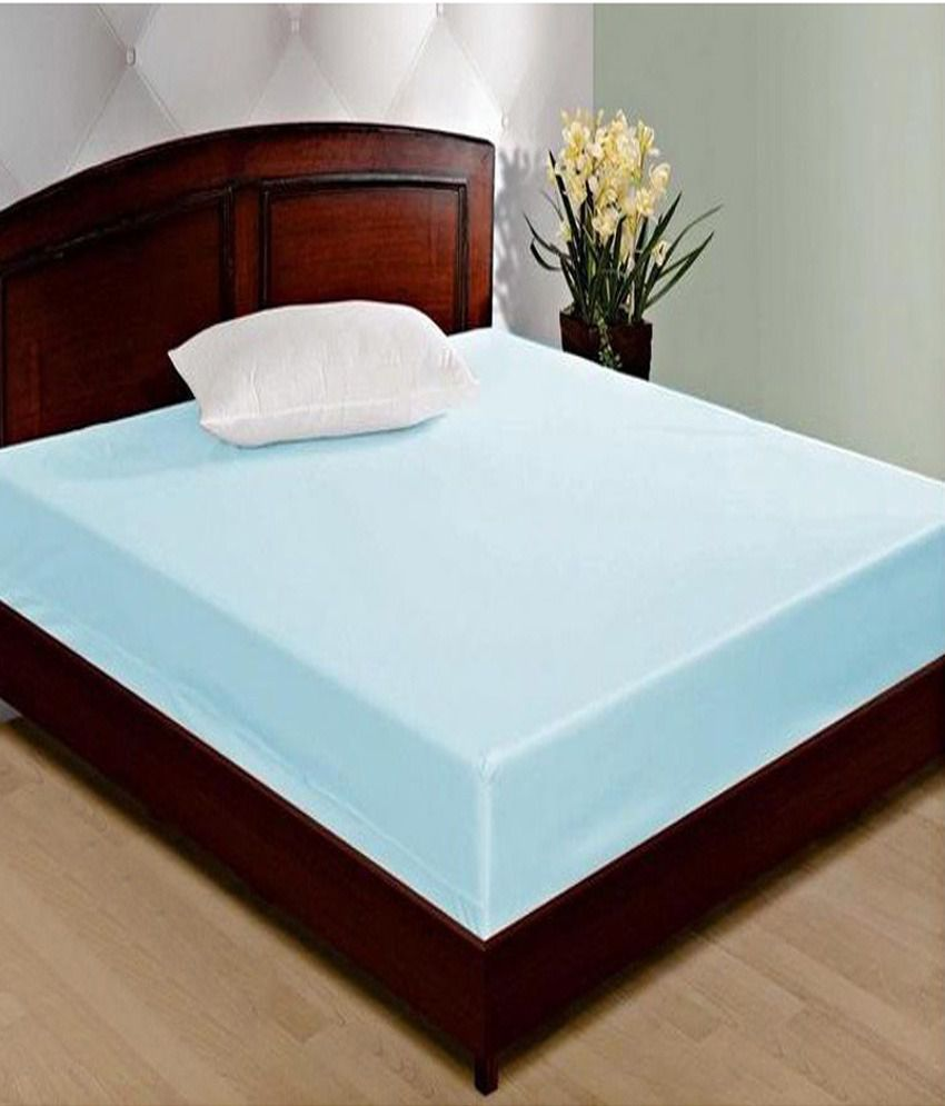 jbg home store blue waterproof double bed mattress cover buy jbg