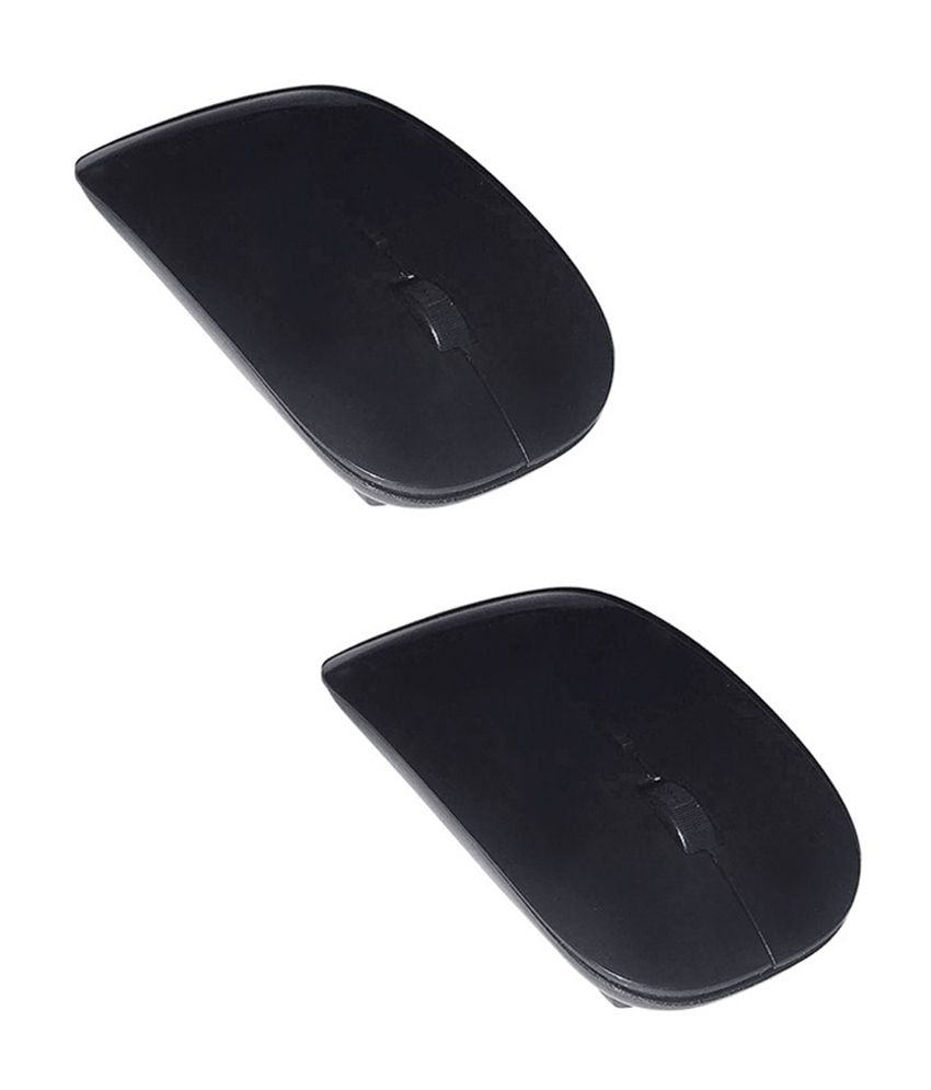 Selfieseven Combo of 2 Black Wireless Mouse