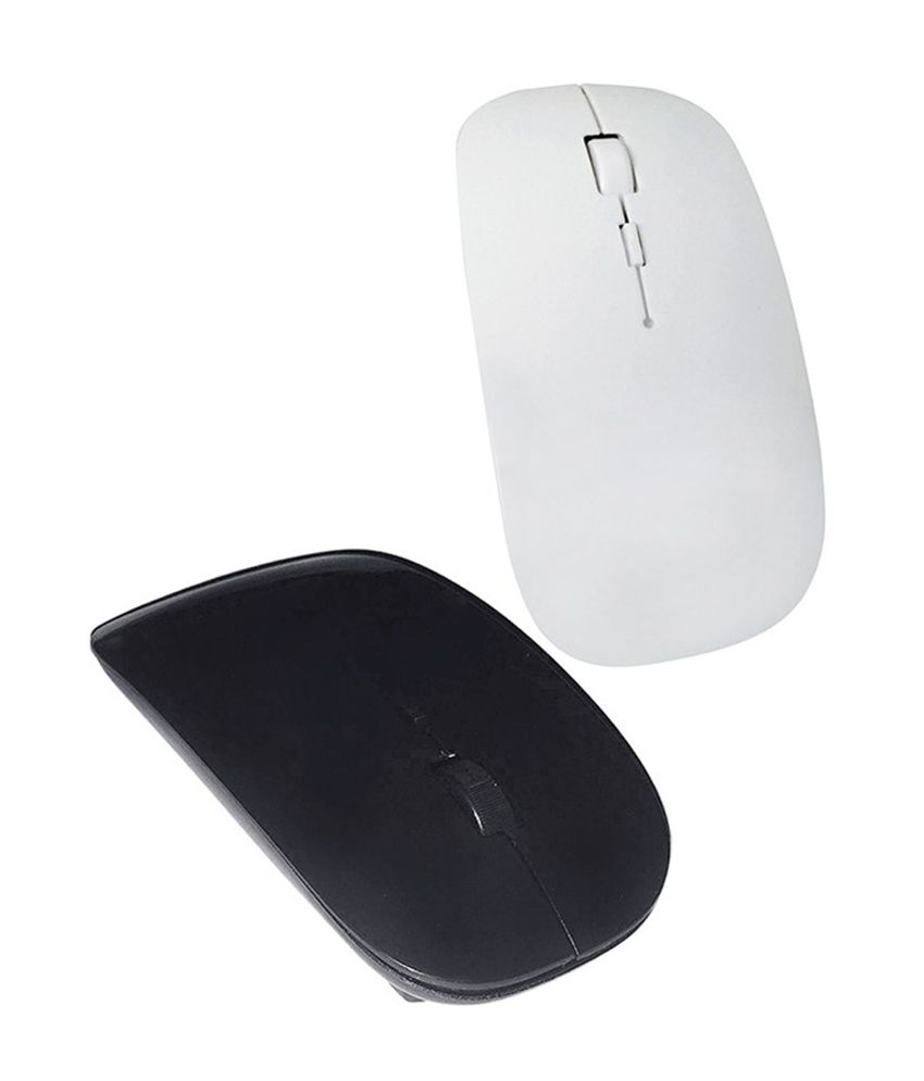 Selfieseven Combo of Black & White Wireless Mouse