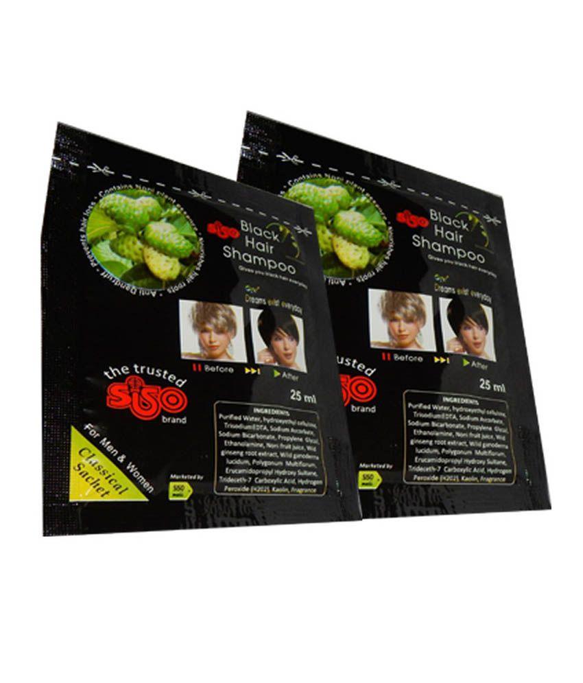 Siso Hair Color Shampoo 25ml Pack Of 10 Buy Siso Hair