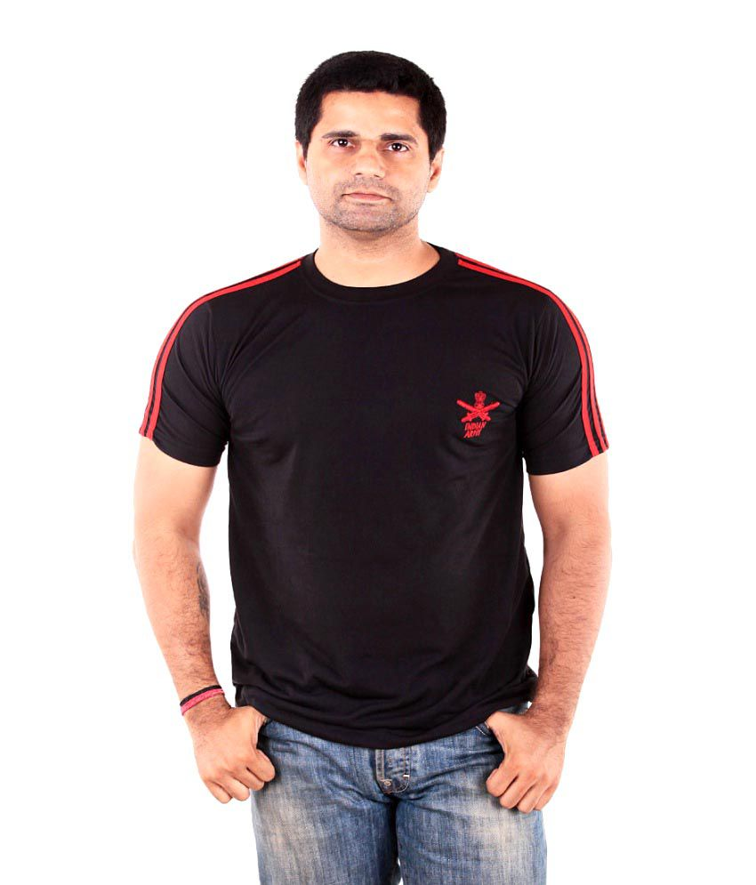 The G Street Cotton Black Indian Army T-Shirt