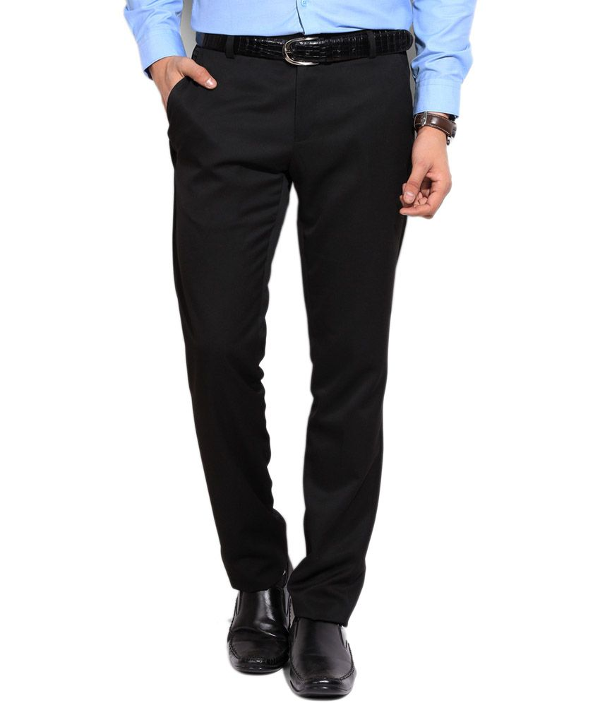 86b3856db20ade Tikare Outlook Black Formal Trousers - Buy Tikare Outlook Black Formal  Trousers Online at Low Price in India - Snapdeal