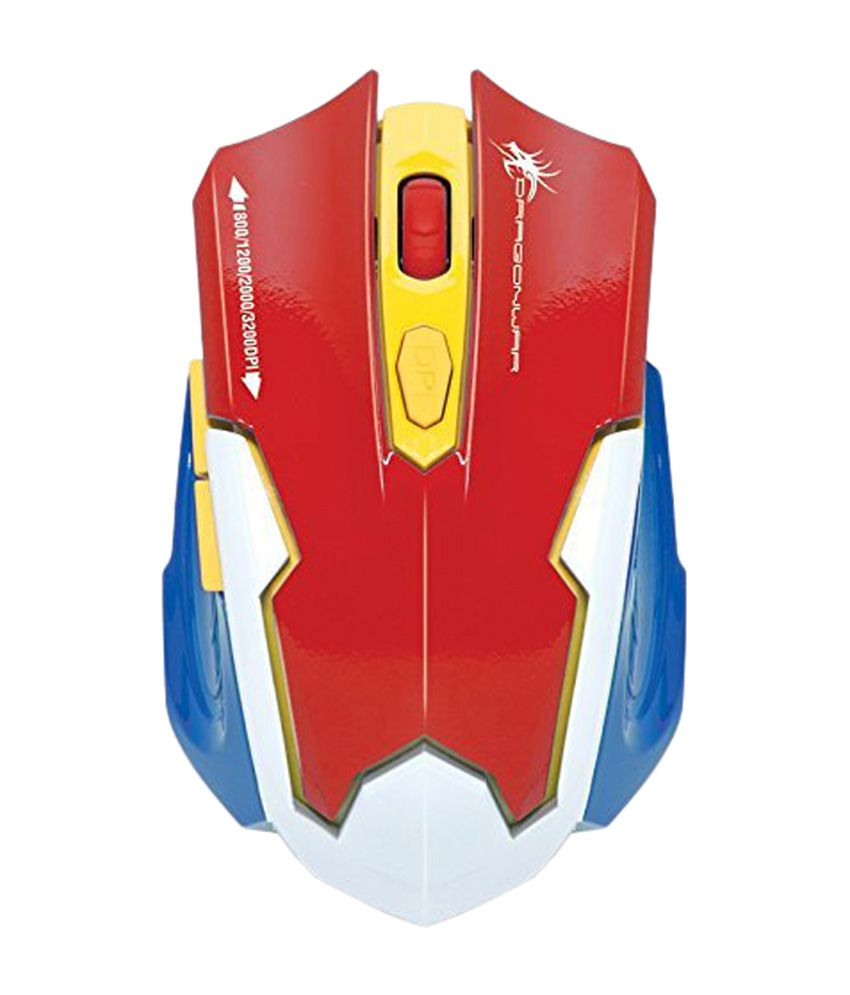 Dragon War Emera 3200 DPI Gaming Mouse (Red)