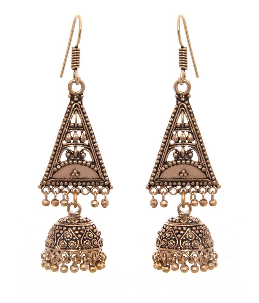 Kaizer High Quality German Silver Jhumki Earring -DS-54
