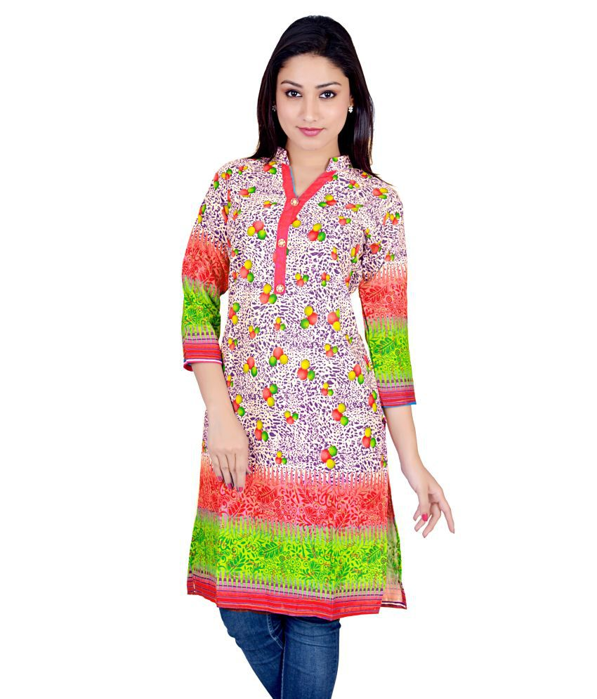 Magrace Printed Viscose Kurti For Women