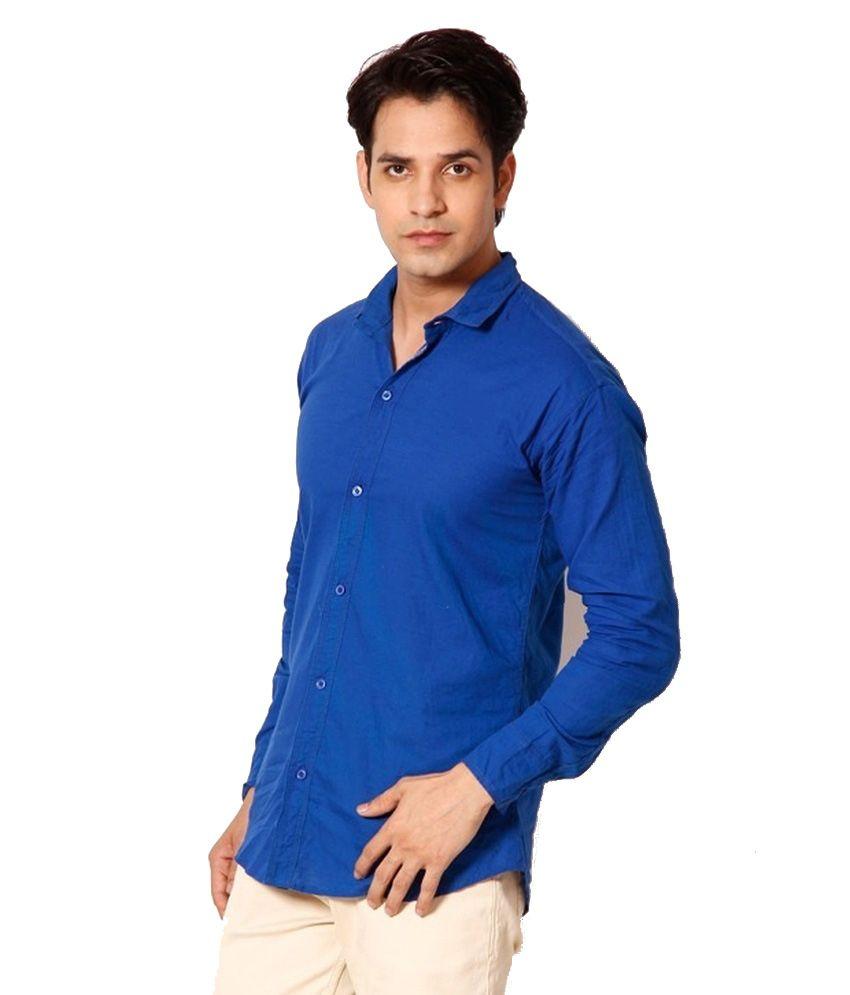 Purple blue casual cotton blend men shirt buy purple for Purple and blue shirt