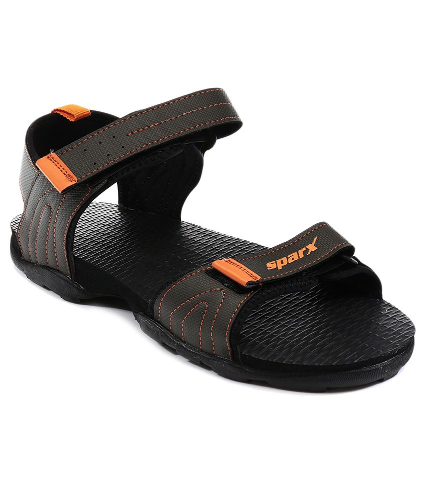 Sparx Men's Olive and Orange Athletic & Outdoor Sandals - 8 UK (SS-430) Sitios Web Precio Barato KyH4FJmT7A