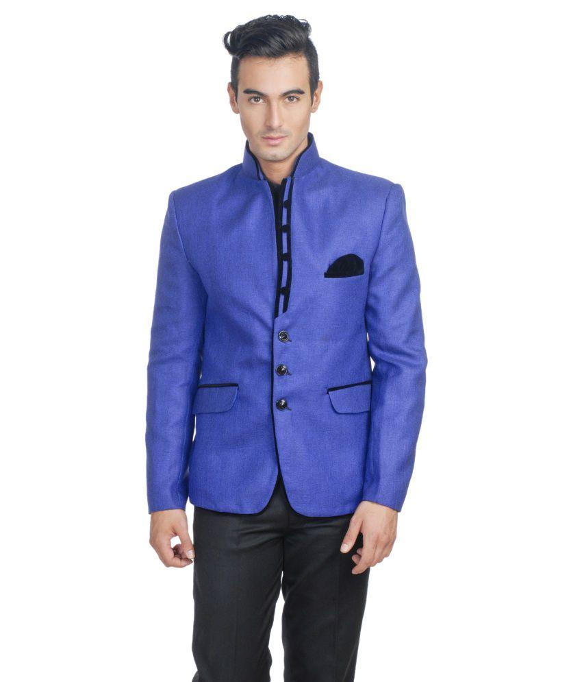 Wintage Blue Rayon Party Wear Blazer