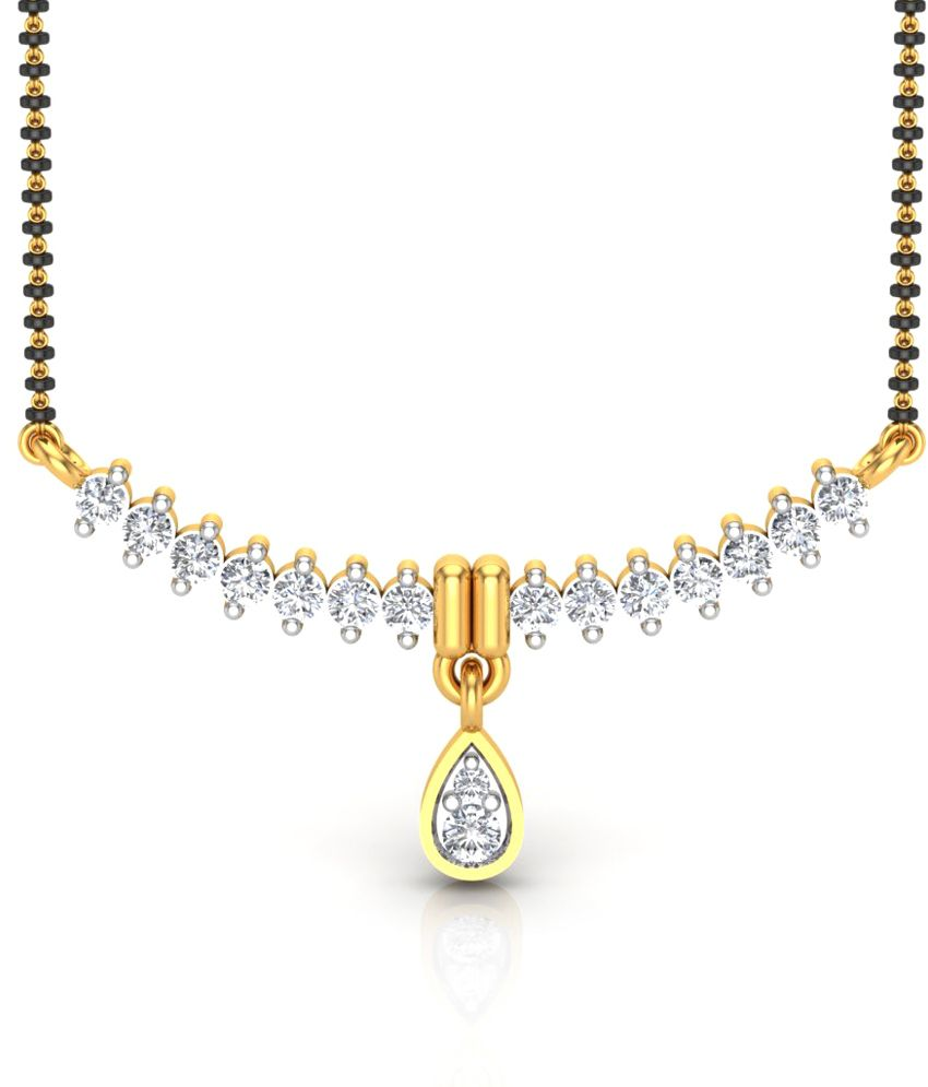 Charu Jewels The Aluha Traditional Diamond Mangalsutra