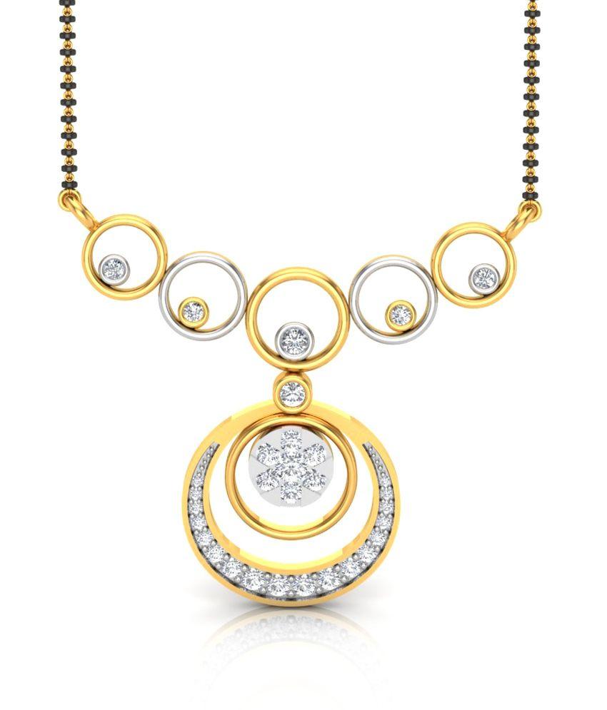 Charu Jewels The Juvela Traditional Diamond Mangalsutra