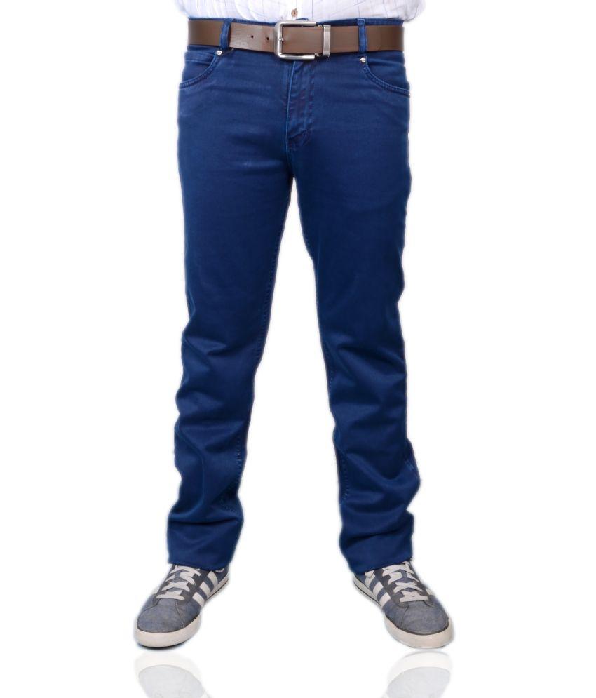 Luxury Blue Color Jeans